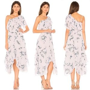 MISA | Alexandra One Shoulder Ruffle Floral Dress